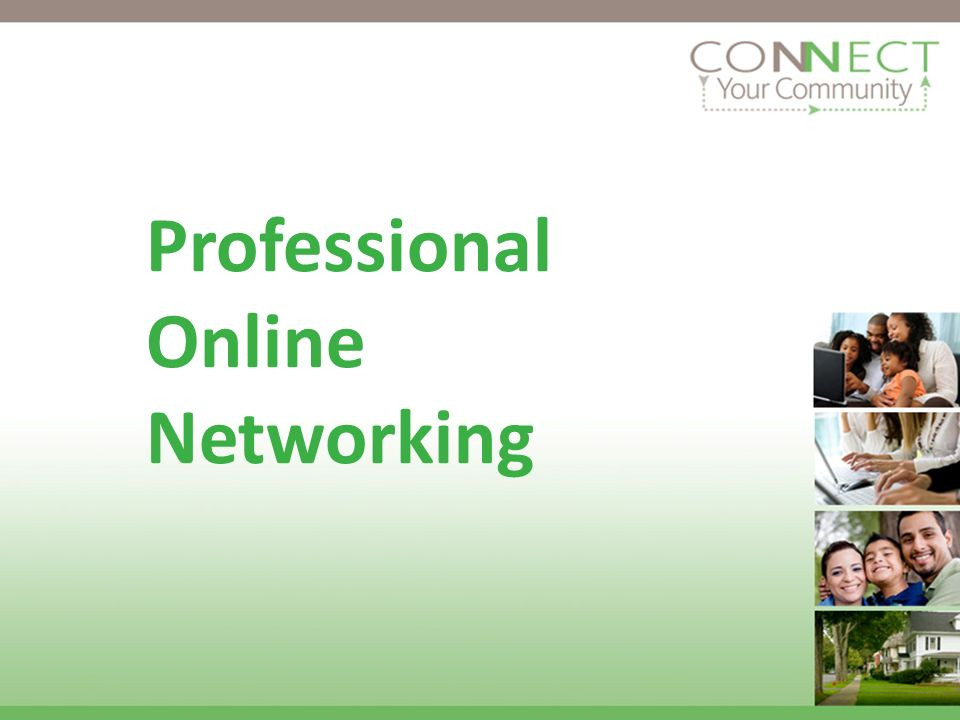 Professional Online Networking