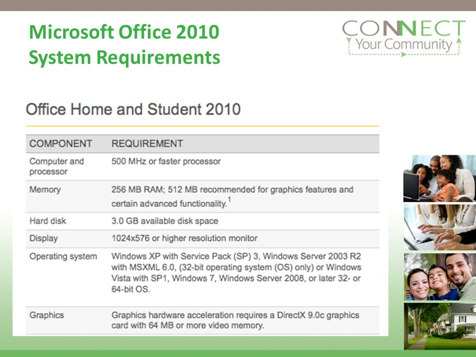 Microsoft Office 2010 System Requirements