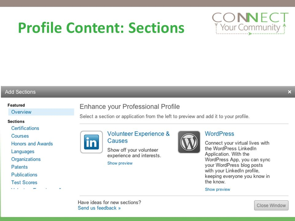 Sample Status Updates Attended LinkedIn for Job Seekers webinar today.