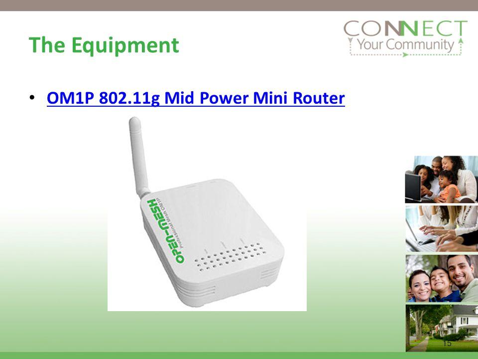 15 The Equipment OM1P 802.11g Mid Power Mini Router
