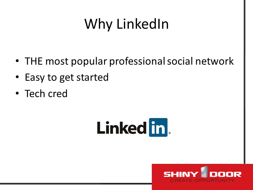 Professional Use of Social Networks: How?