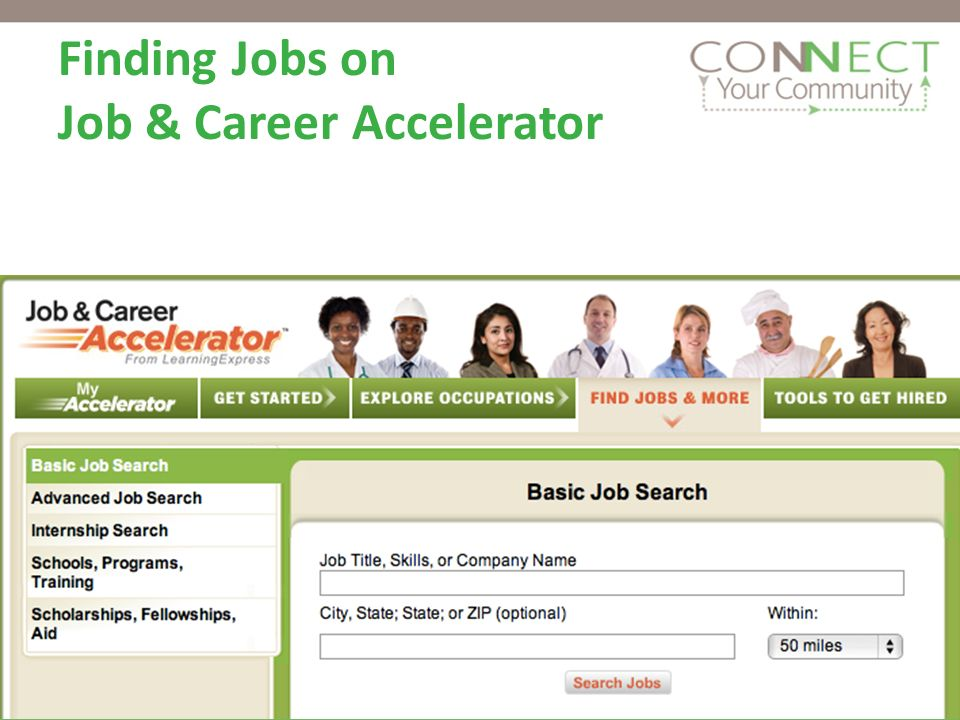 Finding Jobs on Job & Career Accelerator