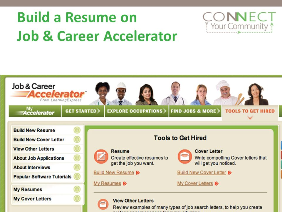 Resumes on Job & Career Accelerator