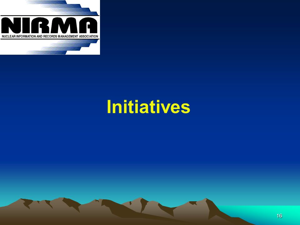 16 Initiatives