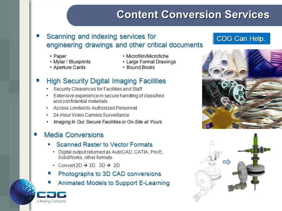 Parts Configuration Management CDG Can Help.
