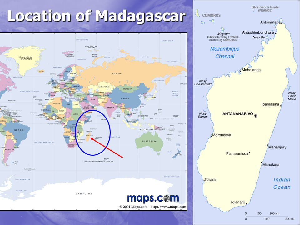 Location of Madagascar