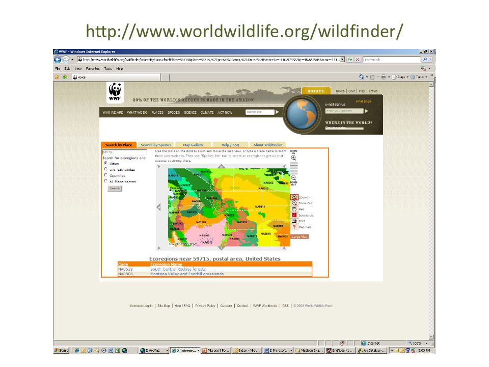 http://www.worldwildlife.org/wildfinder/