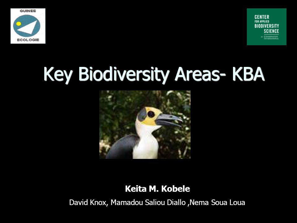 Key Biodiversity Areas- KBA Keita M. Kobele David Knox, Mamadou Saliou Diallo,Nema Soua Loua