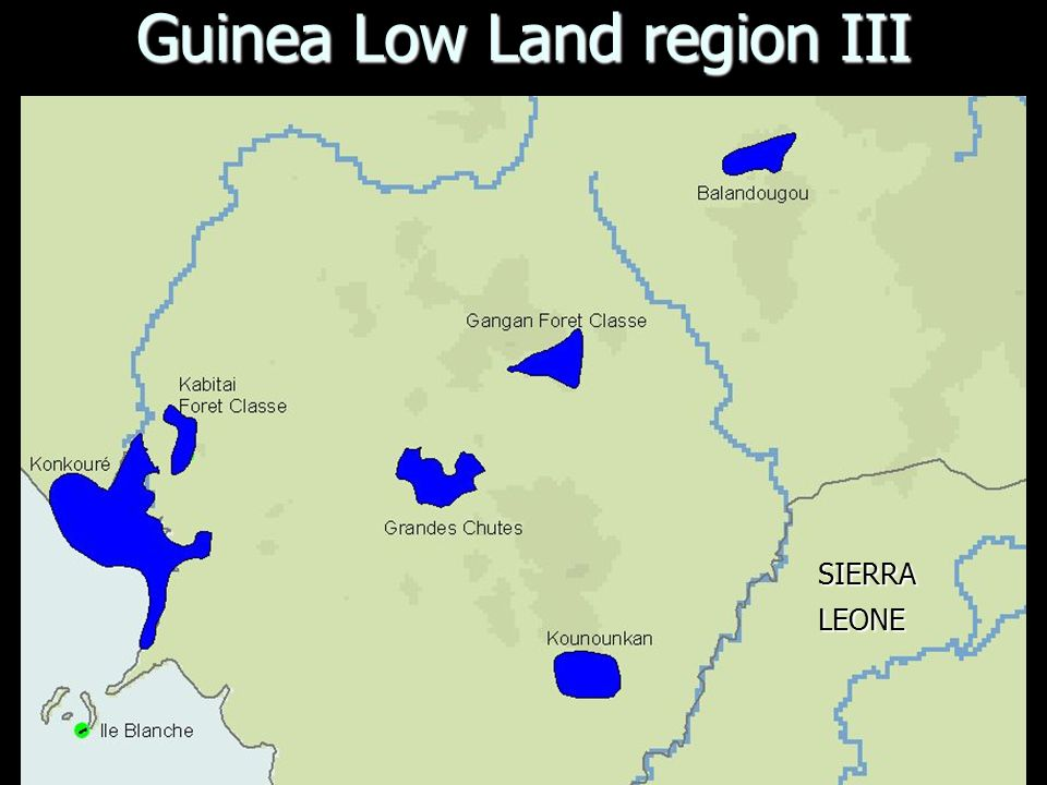Guinea Low Land region III SIERRALEONE