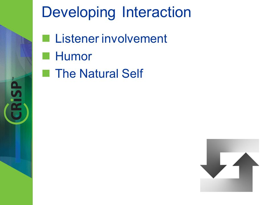 Developing Interaction Listener involvement Humor The Natural Self