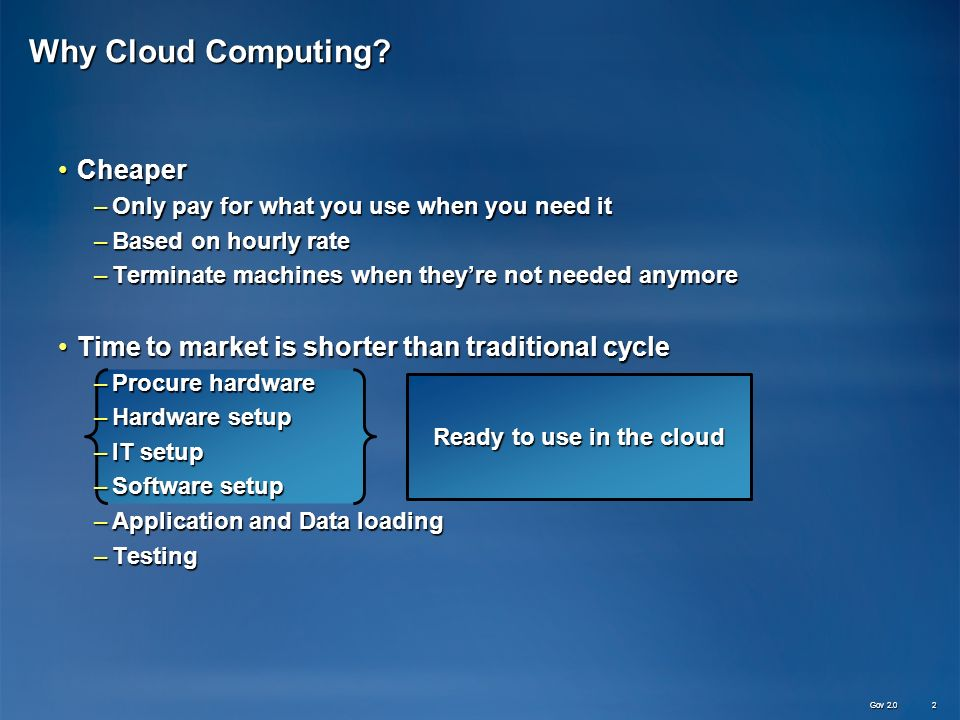 Why Cloud Computing.