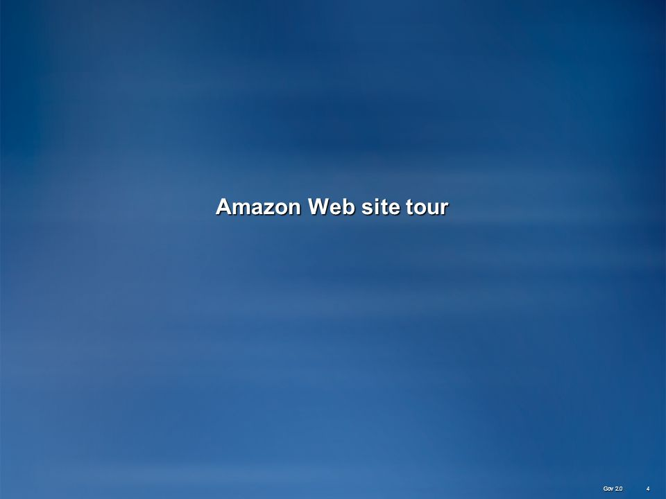Amazon Web site tour Gov 2.0 4