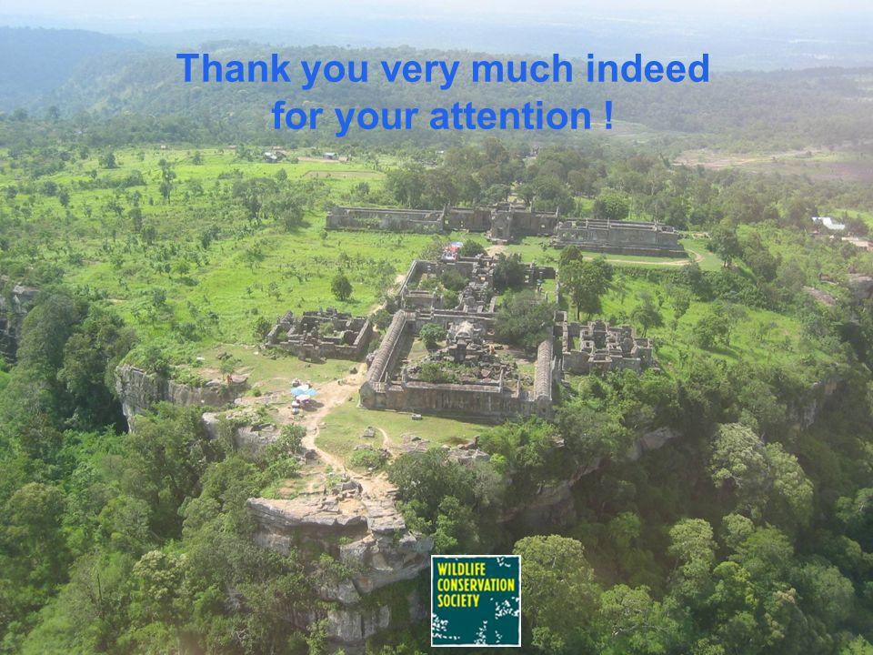Acknowledgments Wildlife Conservation Society, Cambodia Program Environmental System Research Institute (ESRI), and Special thanks to SCGIS for granti