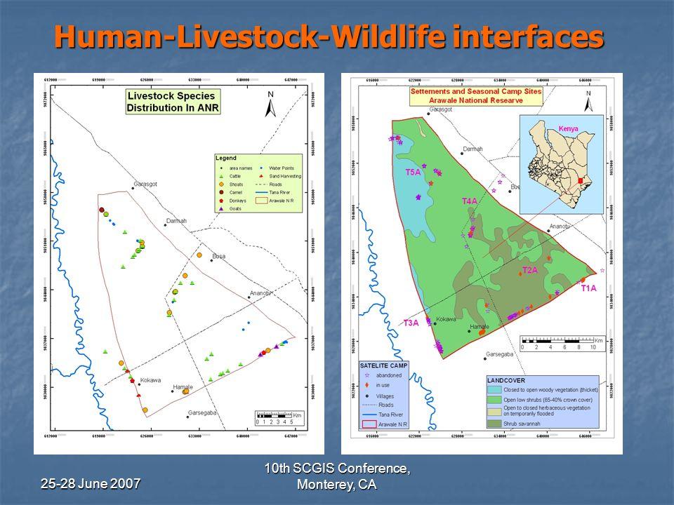 25-28 June 2007 10th SCGIS Conference, Monterey, CA Livestock Grazing SpeciesTotalCattle4,202 Shoats3,720 Goats486 Donkey24 Camel2 Total8,434