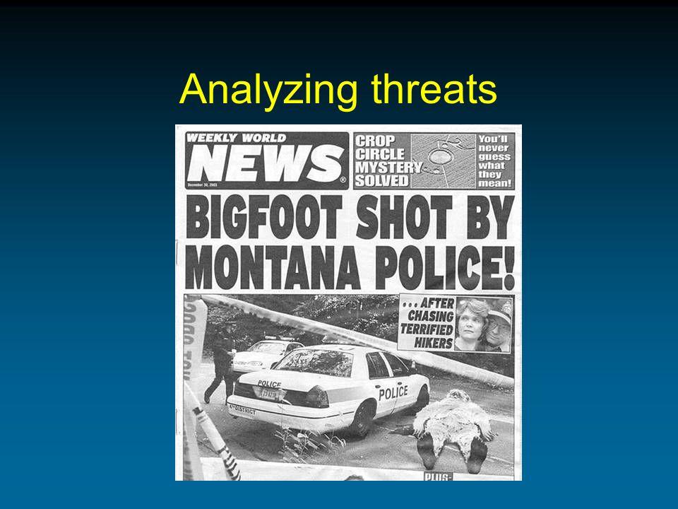 Analyzing threats