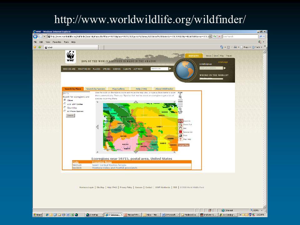 http://www.worldwildlife.org/wildfinder/