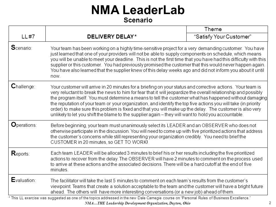 3 NMA LeaderLab Prizes TBD NMA…THE Leadership Development Organization, Dayton, Ohio