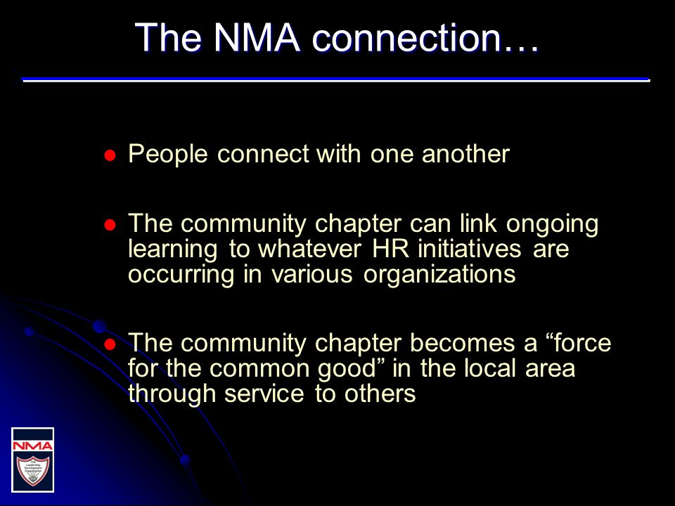 NMA chapters...