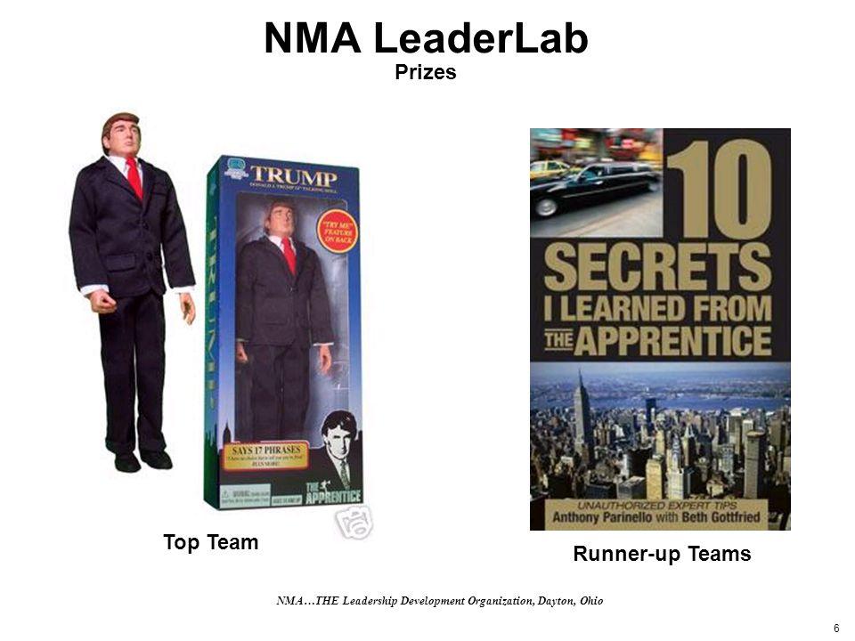 6 NMA LeaderLab Prizes Runner-up Teams Top Team NMA…THE Leadership Development Organization, Dayton, Ohio