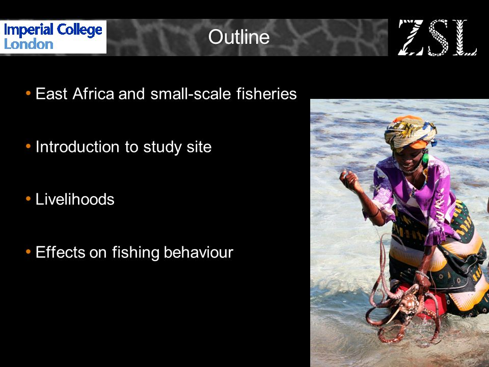 Outline East Africa and small-scale fisheries Introduction to study site Livelihoods Effects on fishing behaviour