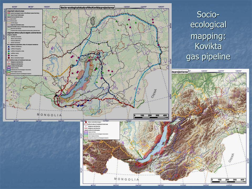 Socio- ecological mapping: Kovikta gas pipeline