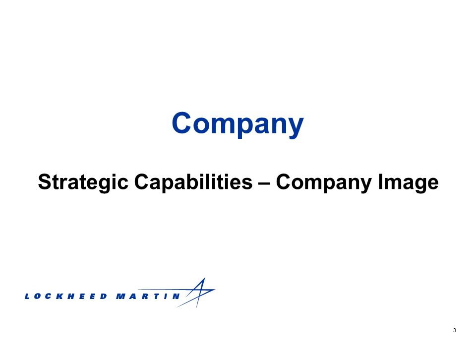3 Company Strategic Capabilities – Company Image