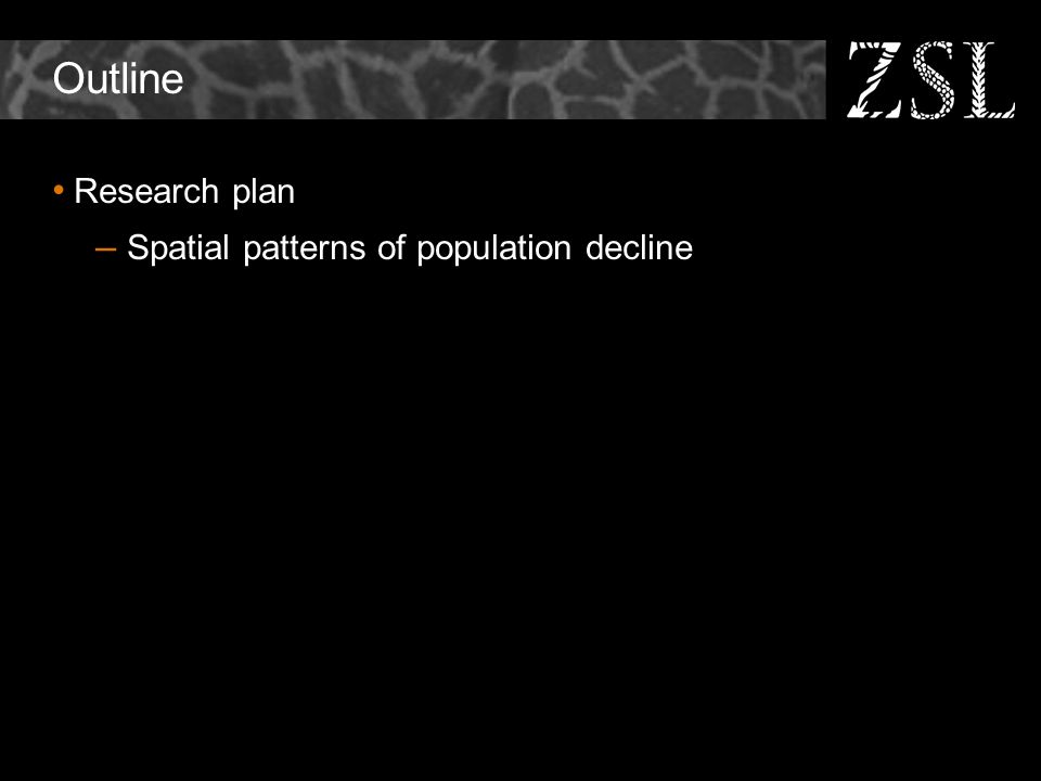 Outline Research plan – Spatial patterns of population decline