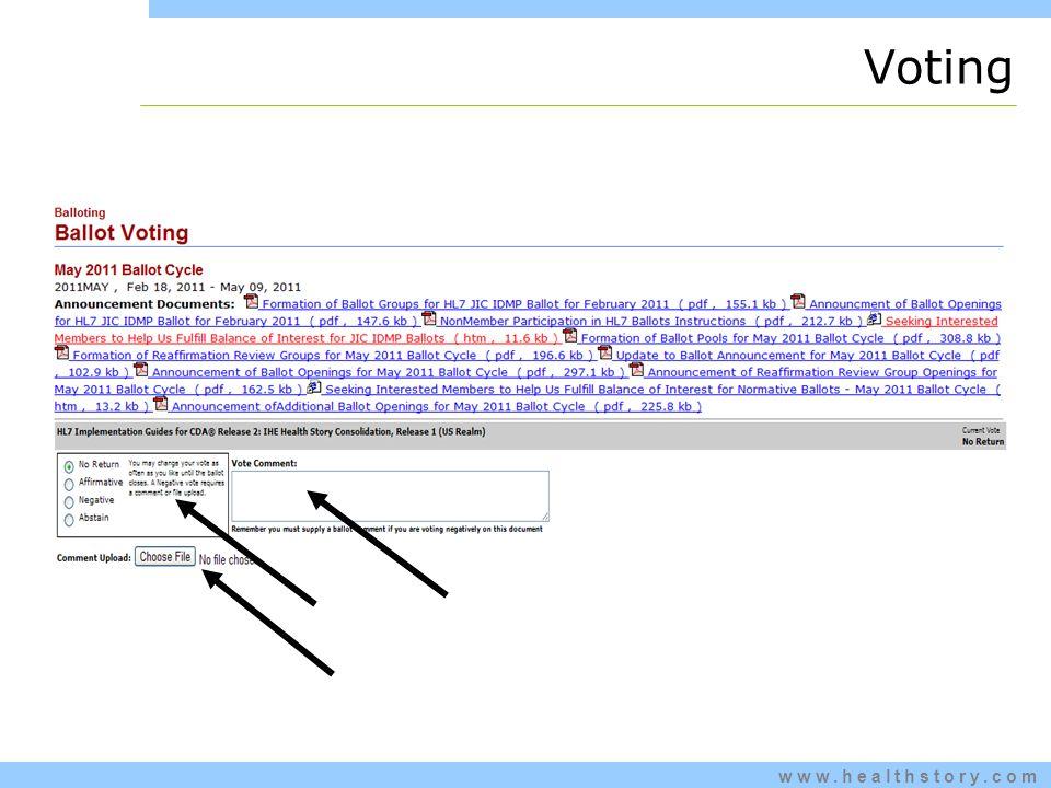 www.healthstory.com Voting
