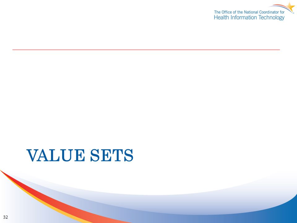 VALUE SETS 32