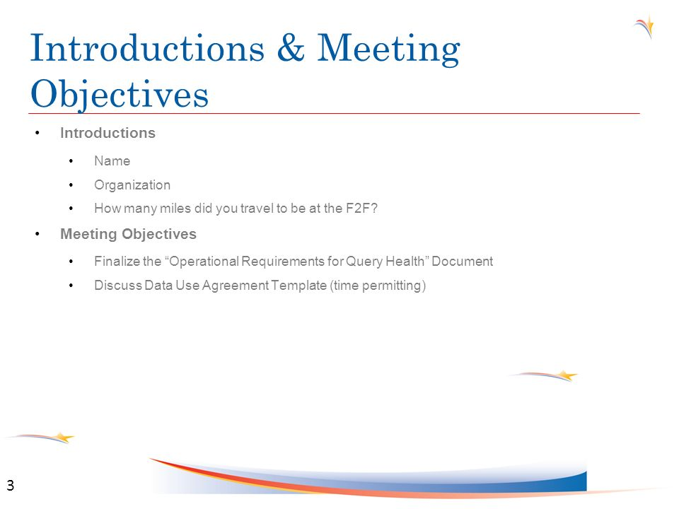 Agenda for Tuesday, October 18th TimeSession Location 8:00AM – 9:00AMFull S&I Framework MeetingRegency Ballroom 9:00AM – 10:00AMQuery Health Initiative OverviewRegency Rooms C&D 10:15AM – 12:00PM Query Health Operations WG Breakout Regency Room D 12:00PM – 1:30PMLunch Break 1:30PM – 3:00PM Query Health Operations WG Breakout Regency Room D 3:15PM – 5:30PMQuery Health Operations WG BreakoutRegency Room D 4