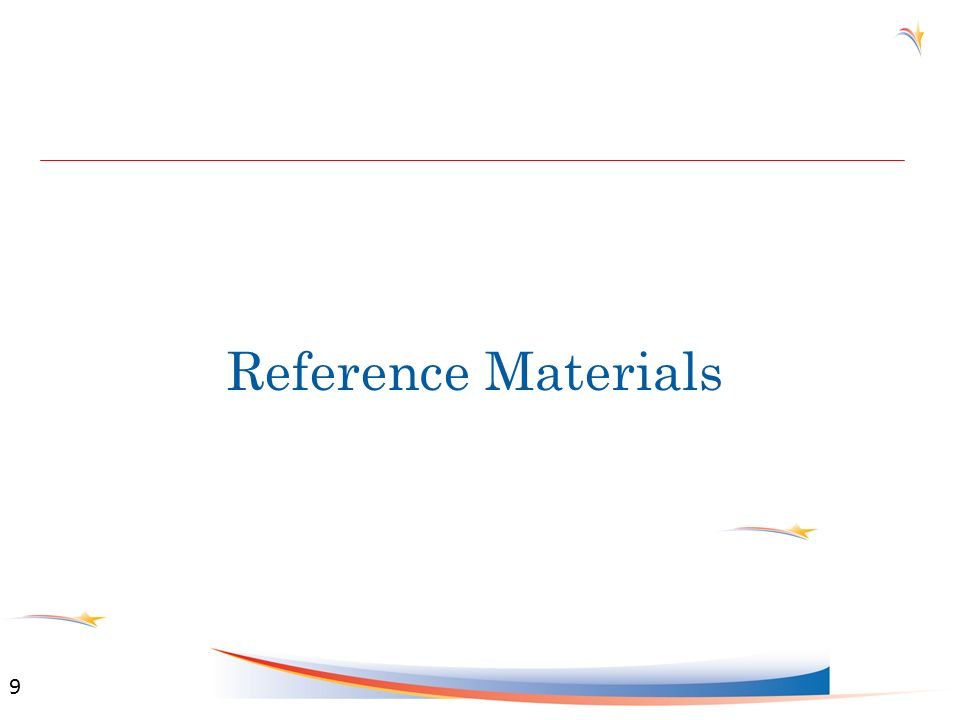 Reference Materials 9