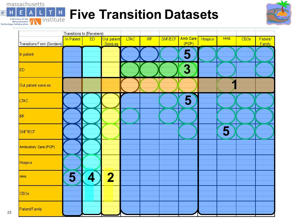 25 2 4 3 5 5 5 5 1 Five Transition Datasets