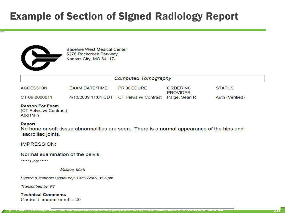 © 2011 Cerner Corporation. All rights reserved. This document contains Cerner confidential and/or proprietary information which may not be reproduced