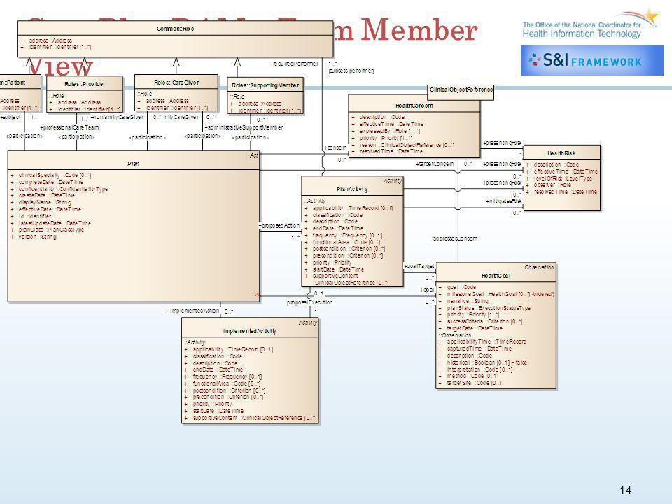 14 Care Plan DAM – Team Member View