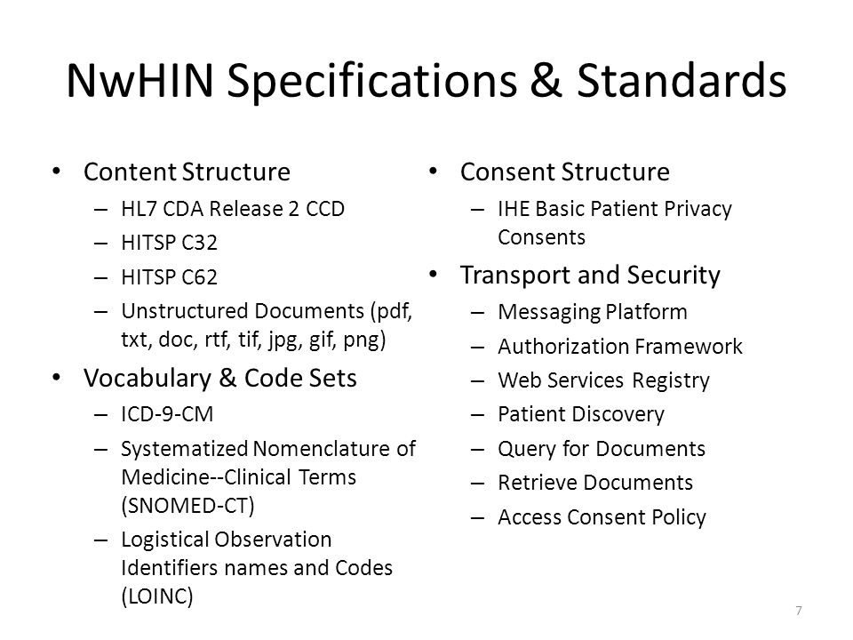 NwHIN Exchange Transaction Flow 8 Patient Authorization Clinical Documents