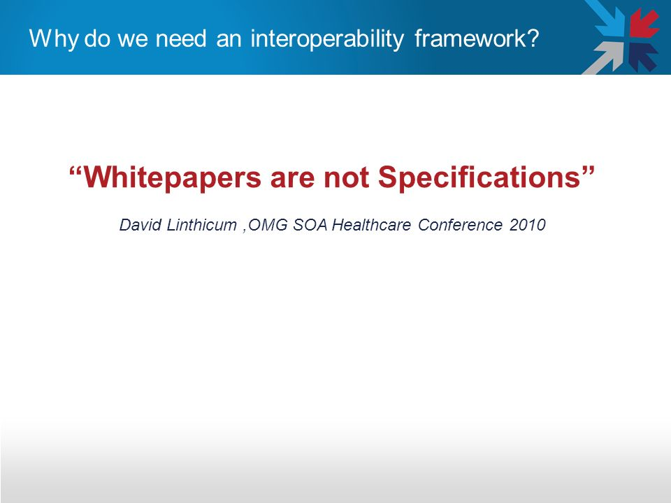 Why do we need an interoperability framework
