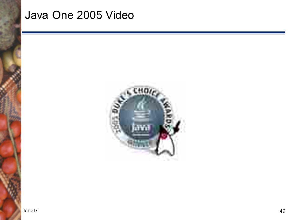 49 Jan-07 Java One 2005 Video