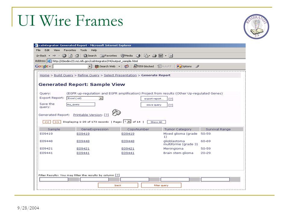 9/28/2004 UI Wire Frames