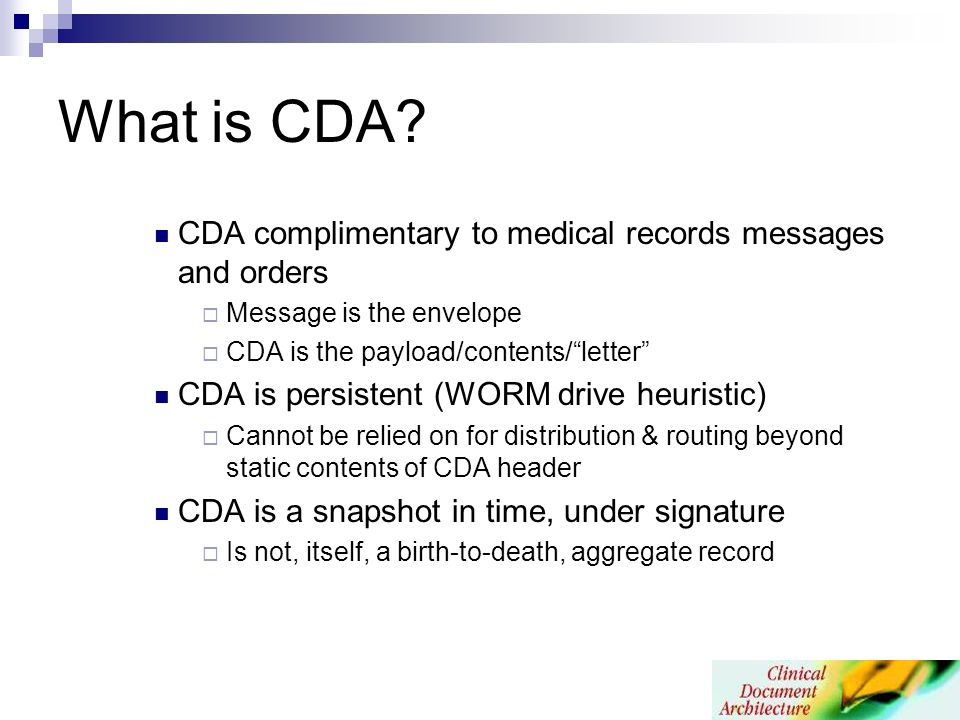 What is CDA.