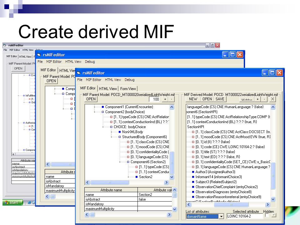 Create derived MIF