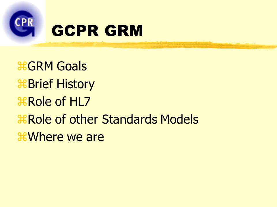 GCPR Modeling Discussion