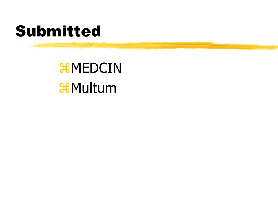 Submitted zMEDCIN zMultum