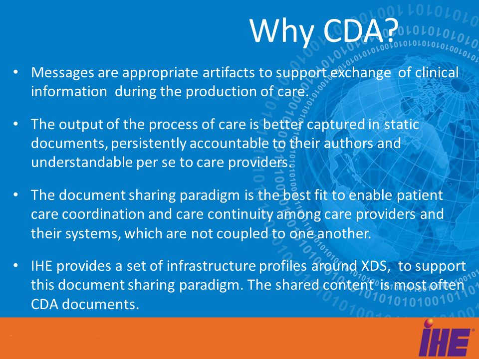 Messages are appropriate artifacts to support exchange of clinical information during the production of care.