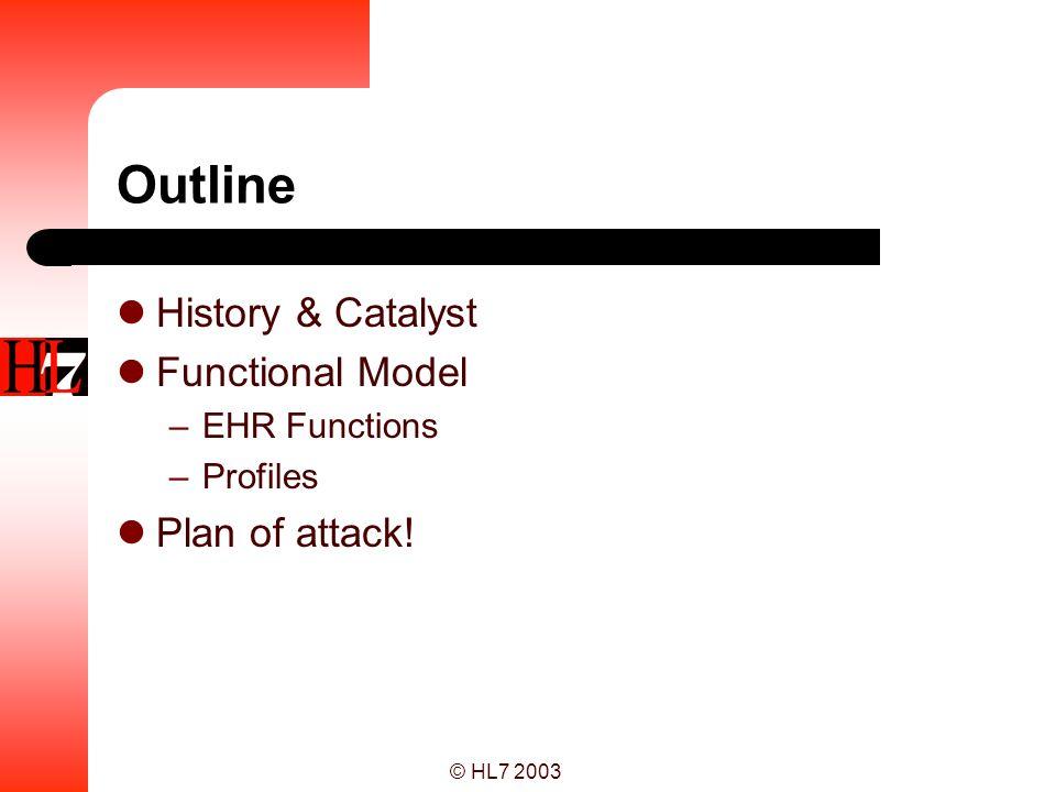 © HL7 2003 Functional dependencies