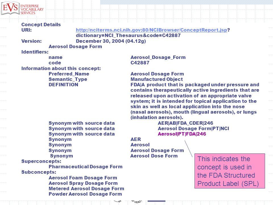 Concept Details URI: http://nciterms.nci.nih.gov:80/NCIBrowser/ConceptReport.jsp?http://nciterms.nci.nih.gov:80/NCIBrowser/ConceptReport.jsp dictionar
