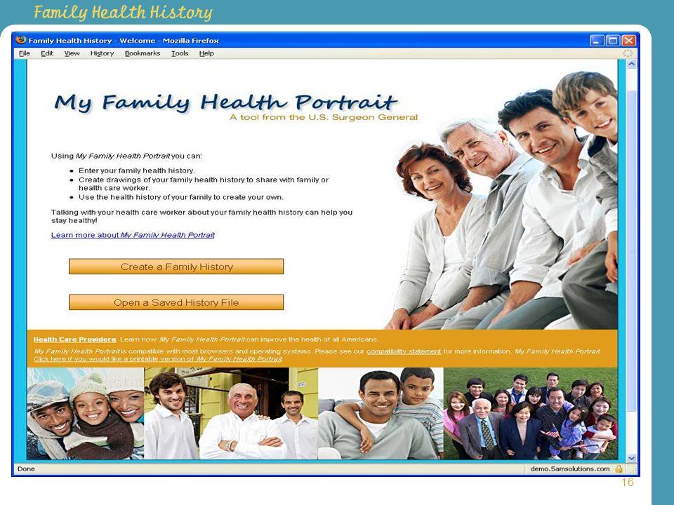 Family Health History Portal 16