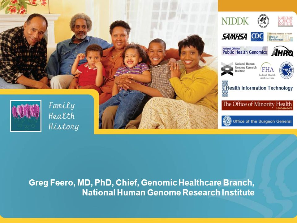 Greg Feero, MD, PhD, Chief, Genomic Healthcare Branch, National Human Genome Research Institute