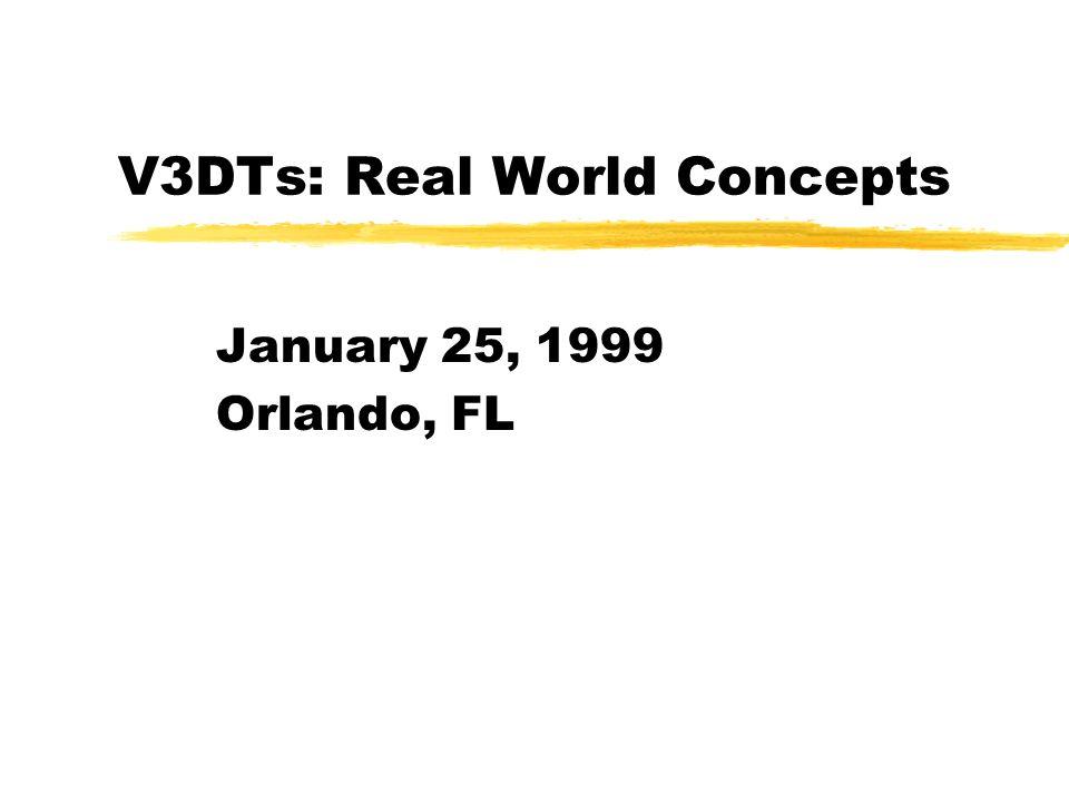 V3DTs: Real World Concepts January 25, 1999 Orlando, FL