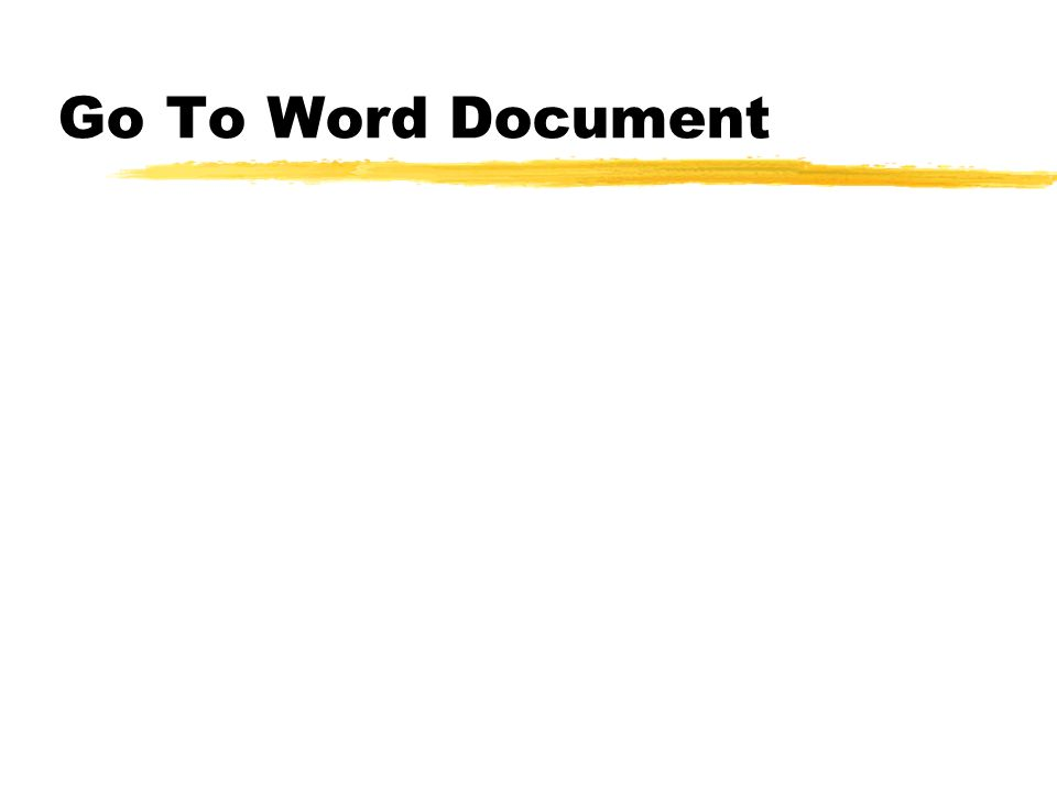 Go To Word Document