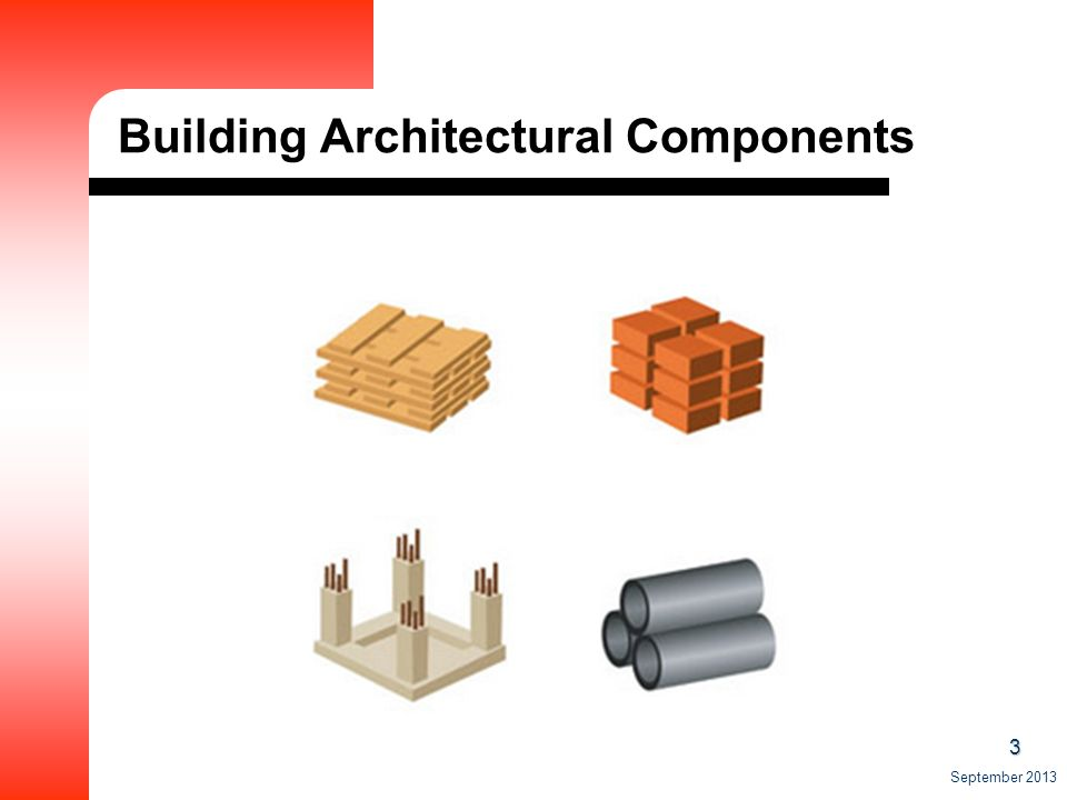 3 September 2013 Building Architectural Components
